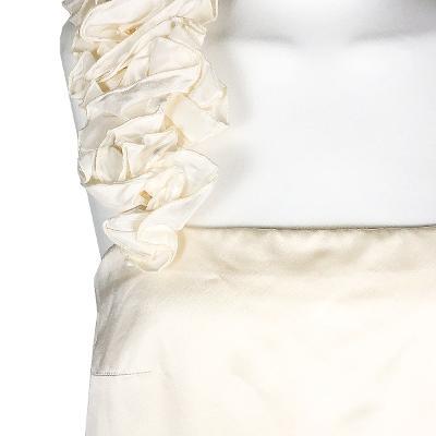 floral shoulder dress ivory